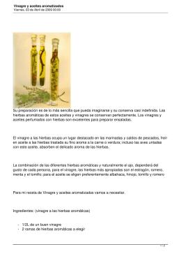 Vinagre y aceites aromatizados