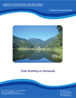 Team Building en Zempoala