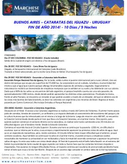 BUENOS AIRES – CATARATAS DEL IGUAZU
