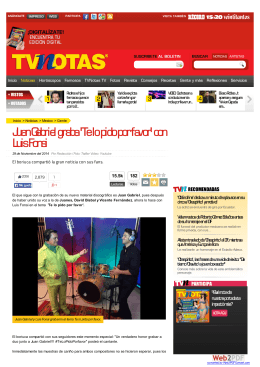 Juan Gabriel graba `Te lo pido por favor` con Luis Fonsi