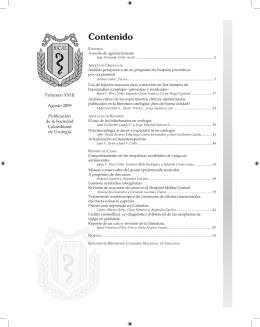 Contenido - Revista Urológica Colombiana