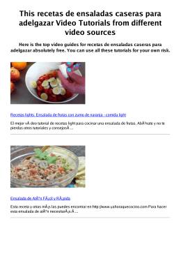 #Z recetas de ensaladas caseras para adelgazar PDF video books