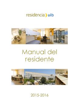 Page 1 2015-2016 Page 2 Manual del residente – Curso 2015