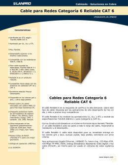 Cable para Redes Categoría 6 Reliable CAT 6