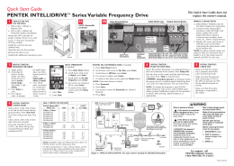 Quick Start Guide PENTEK INTELLIDRIVE™ Series Variable