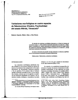Variaciones morfologicas en cuatro especies de
