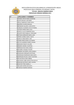 Listados - Institución Educativa Exalumnas de la Presentación