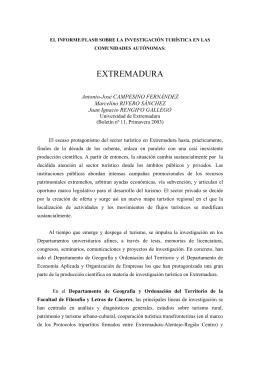 EXTREMADURA - Asociación de Geógrafos Españoles