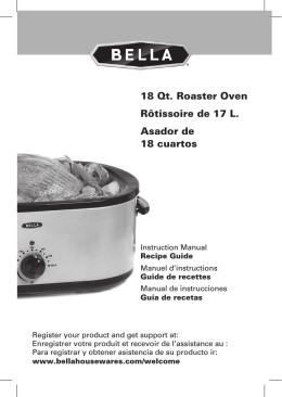 18 Qt. Roaster Oven Rôtissoire de 17 L. Asador de 18 cuartos