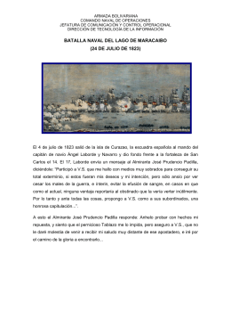 BATALLA NAVAL DEL LAGO DE MARACAIBO (24 DE JULIO DE