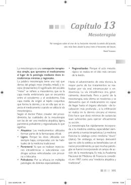 Capítulo 13 Mesoterapia