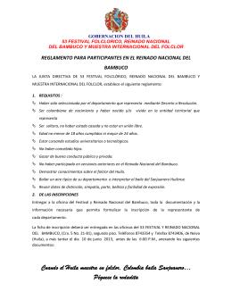 Reglamento Participantes Reinado Nacional
