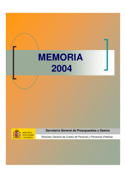 MEMORIA 2004 - Ministerio de Hacienda y Administraciones Públicas