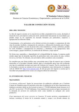 PROYECTO: TALLER DE CONFECCIN TEXTIL