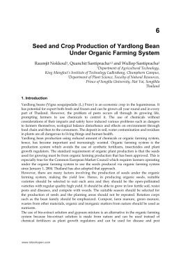 Seed and Crop Production of Yardlong Bean Under