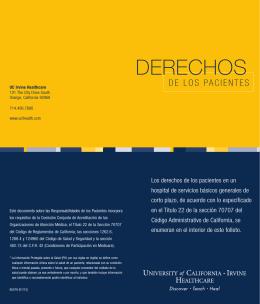 DERECHOS - UC Irvine Health
