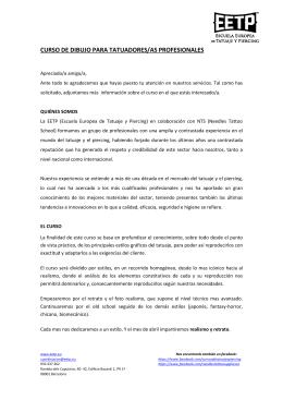 CURSO DE DIBUJO PARA TATUADORES/AS PROFESIONALES