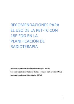 RECOMENDACIONES TÉCNICAS PARA EL USO DE LA PET