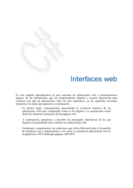 1. Interfaces web