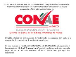 Presentación CONAE - Federación Mexicana de Taekwondo