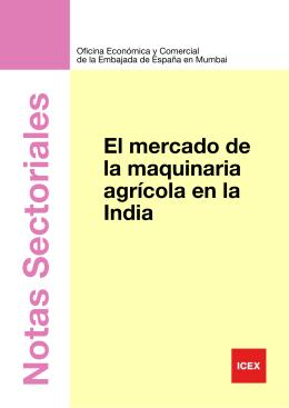 INDIA Mercado de la maquinaria agrícola