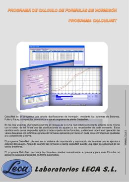 CalculNet es un programa que calcula dosificaciones de hormigón