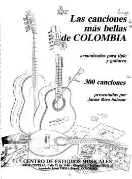 Las canciones más bellas \de COLOMBIA armonizadas para