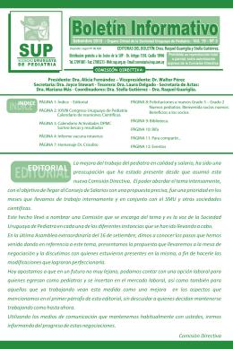 SOCIEDAD URUGUAYA DE PEDIATRIA (Boletín Informativo)