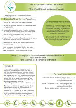 Give your tissue paper a credible sign of Environmental Excellence