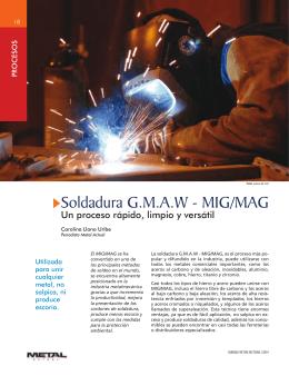 Soldadura G.M.A.W - MIG/MAG Un proceso