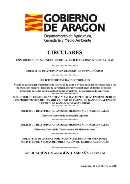 CIRCULARES - Gobierno de Aragón