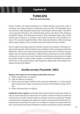 Capítulo VI. TUNICATA - Instituto Nacional de Ecología