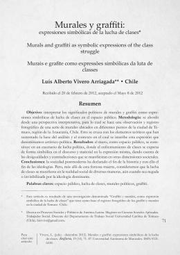 Murales y graffiti: Expresiones simbólicas de la lucha de clases