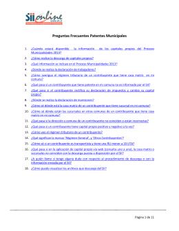 Preguntas Frecuentes Patentes Municipales