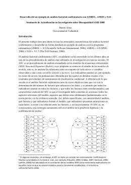 Desarrollo del un ejemplo de análisis factorial confirmatorio con