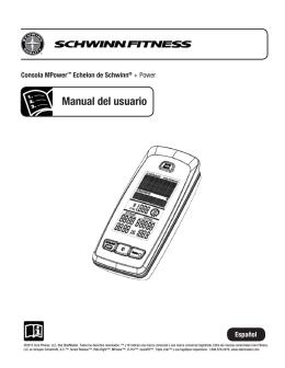 Manual del usuario - Schwinn Equipment