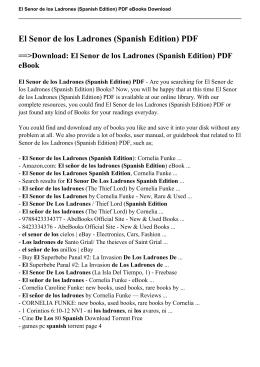 El Senor de los Ladrones (Spanish Edition) PDF eBook