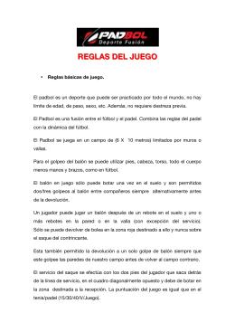 REGLAS DEL JUEGO
