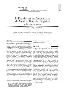 El Estudio de los Dinosaurios de México