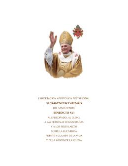 SACRAMENTUM CARITATIS BENEDICTO XVI