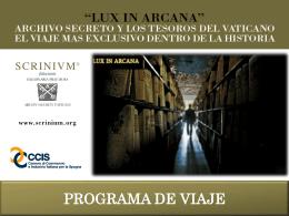 """Presentación iniciativa """"Lux in Arcana"""""""
