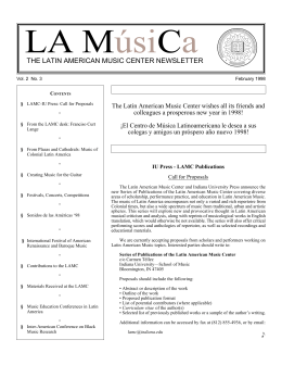 the latin american music center newsletter