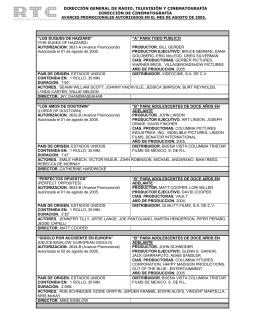 Agosto 2005 - Dirección General de Radio, Televisión y