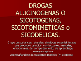 psicotogenos - Farmacología Virtual