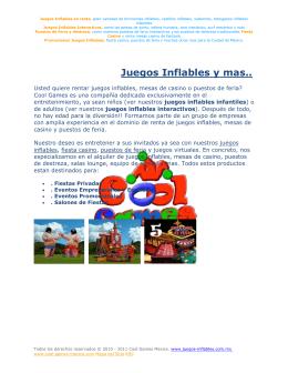 Juegos Inflables y mas..