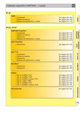 1 Cableado específico HARTING – 4 pares
