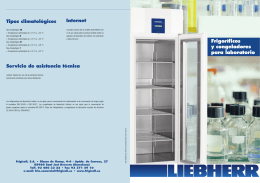 Frigoríficos y congeladores para laboratorio con control