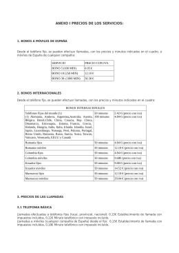 VEASE ANEXO DE PRECIOS Febrero del 2014