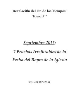 Septiembre 2015: 7 Pruebas Irrefutables de la