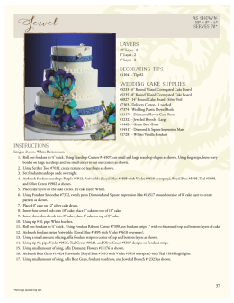 Layers: Decorating Tips: Wedding Cake SUPPLIES